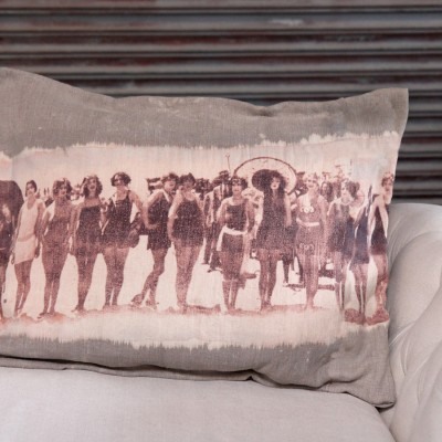 Bleach and Print Pillows