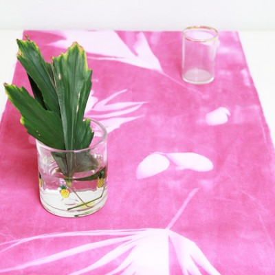 Shadow-Printed Table Runner