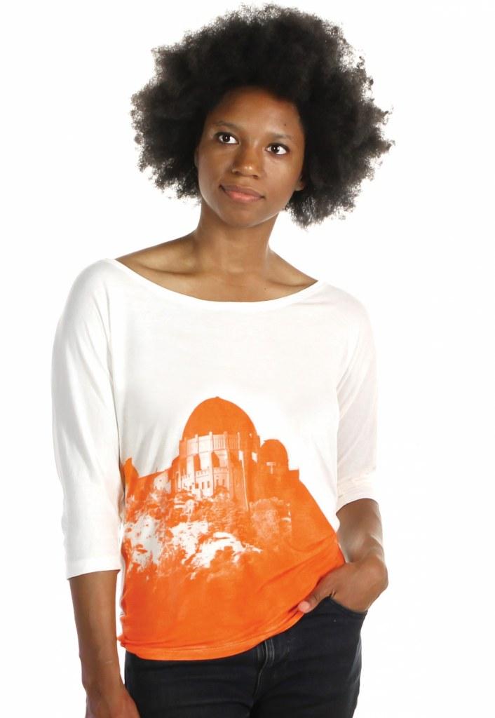 Inkodye print on a Forever 21 rayon shirt.